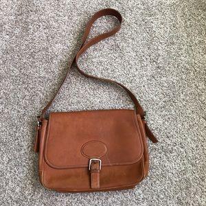 Vintage Coach Cognac Leather Flap Satchel